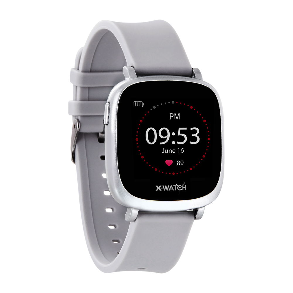 Xlyne Pro Smartwatch X-Watch Ive XW Fit Urban silver Android IOS grau