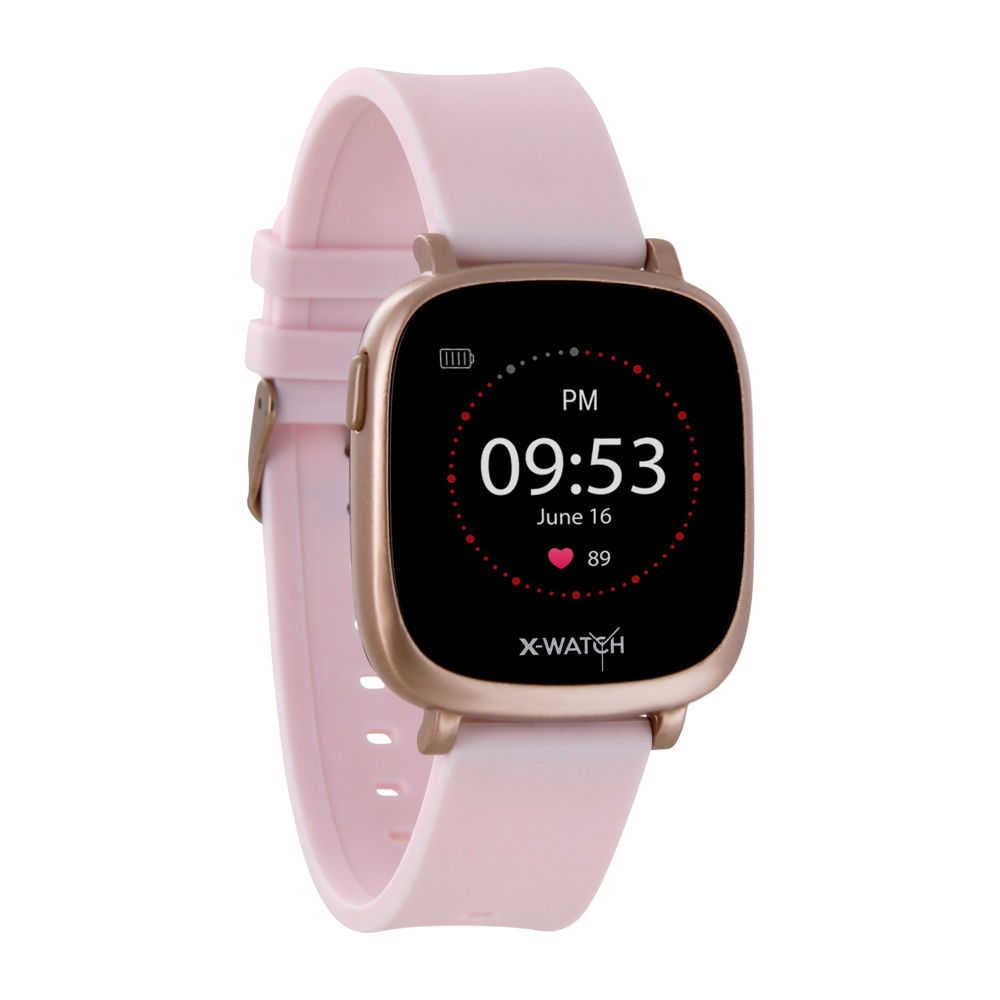 Xlyne Pro Smartwatch X-Watch Ive XW Fit Urban rose Android IOS rosa