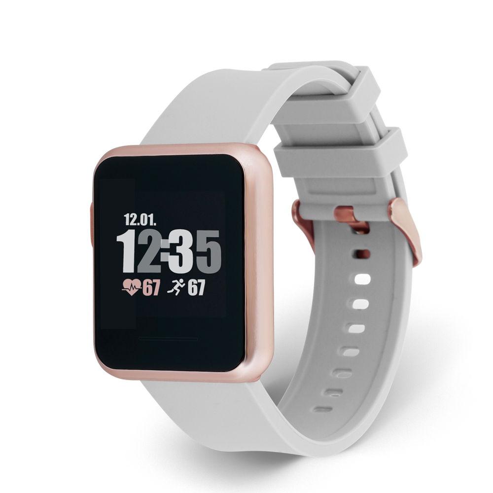 Xlyne Pro Smartwatch X-Watch Keto Sun Reflect soft grey Android IOS grau