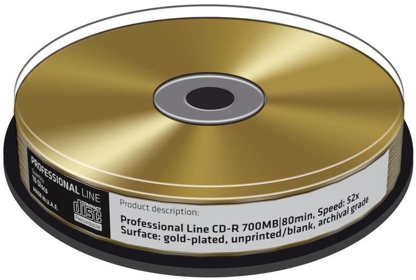 10 professional rohlinge cd r gold 24 karat 80min 700mb. Black Bedroom Furniture Sets. Home Design Ideas