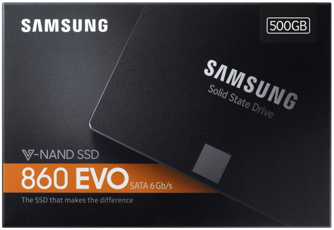 Samsung SSD interne Festplatte 860 Evo TLC 2,5 Zoll 500GB SATA III