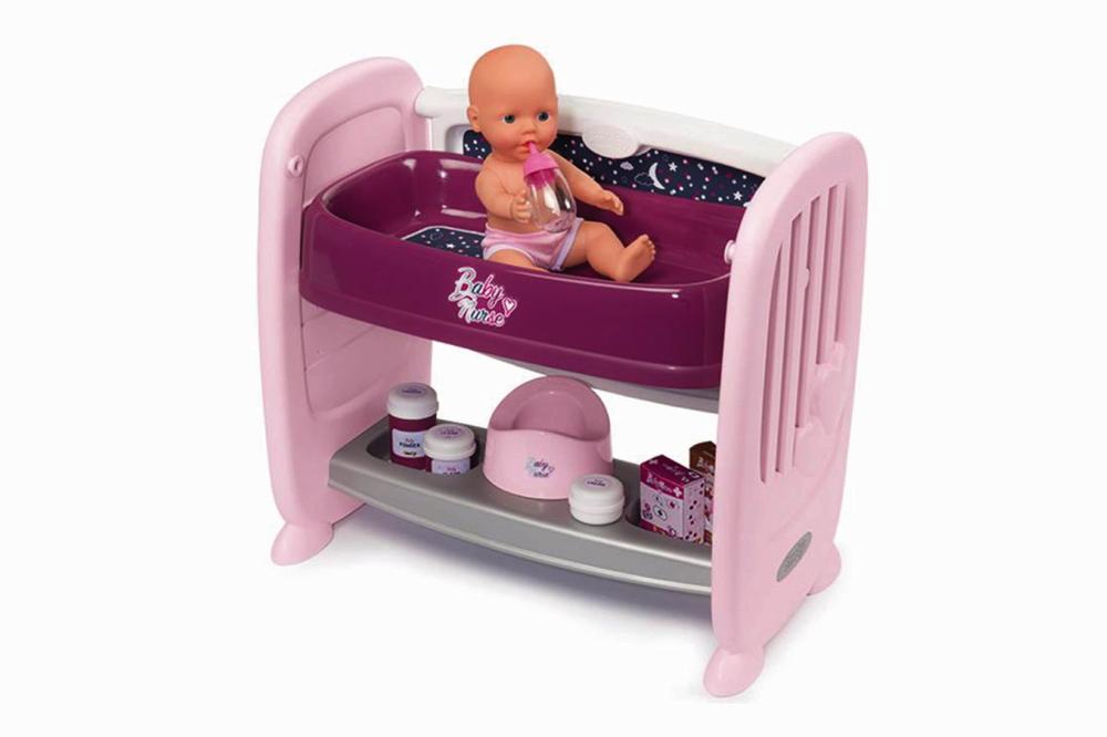 Smoby Spielzeug Rollenspiel Puppen Baby Nurse Puppen 2in1 Beistellbett Wickeltisch 7600220353