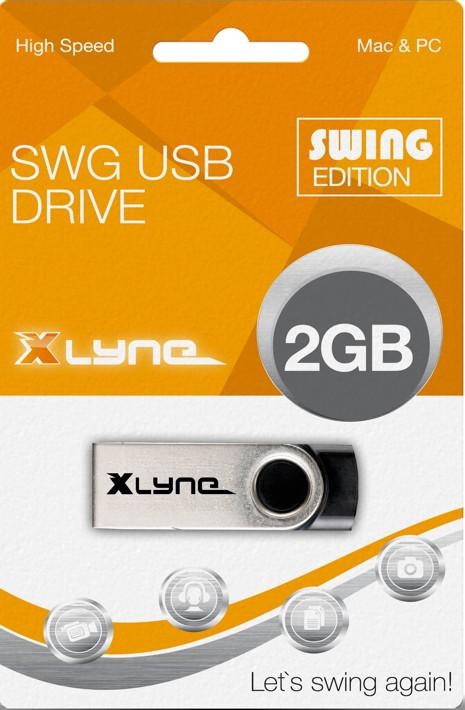 Xlyne USB Stick 2GB Speicherstick SWG schwarz
