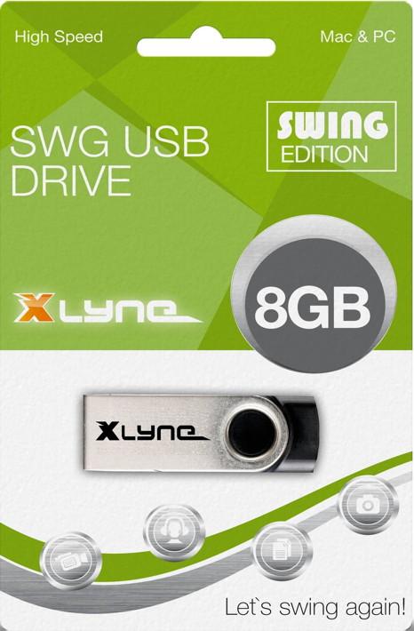 Xlyne USB Stick 8GB Speicherstick SWG schwarz