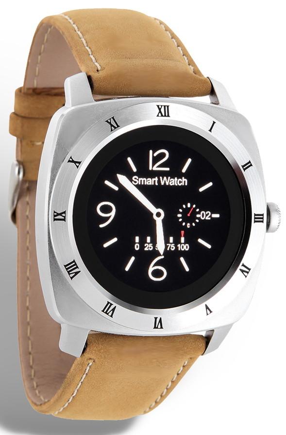 Xlyne Pro Smartwatch X-Watch Nara XW Silver Android IOS braun