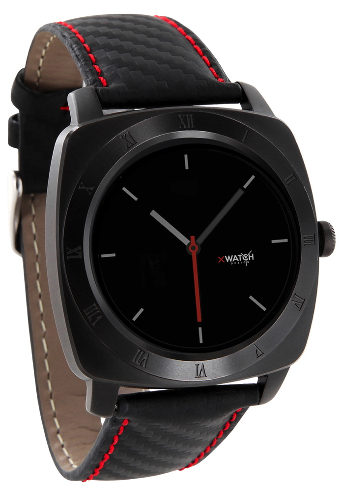 Xlyne Pro Smartwatch X-Watch Nara XW Black Chrome Android IOS carbon red black
