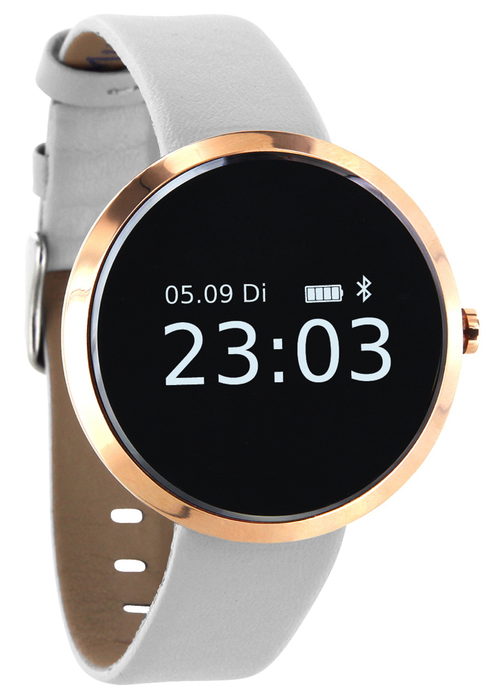 Xlyne Pro Smartwatch X-Watch Siona XW Fit gold Android IOS pure polar white