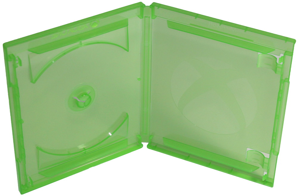 50 Amaray XBOX One Blu-ray Hüllen 1er Box 11 mm für je 1 BD / CD / DVD grün