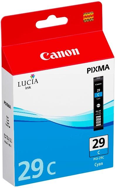 Canon Druckerpatrone Tinte PGI-29 C cyan, blau