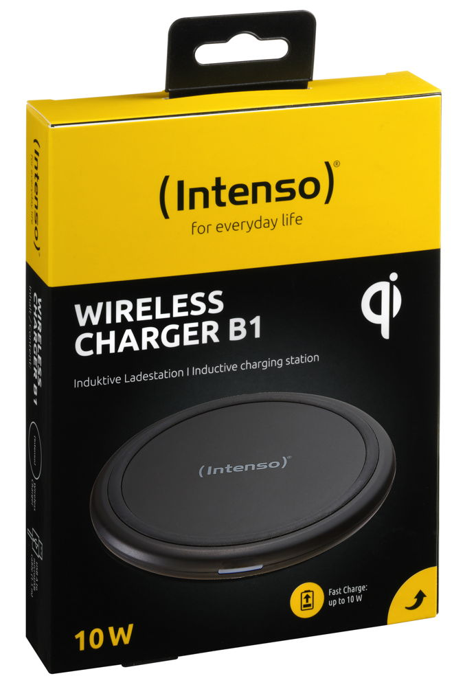 Intenso Wireless Charger BA1 Output bis 10W inkl. Fast Charge Adapter schwarz