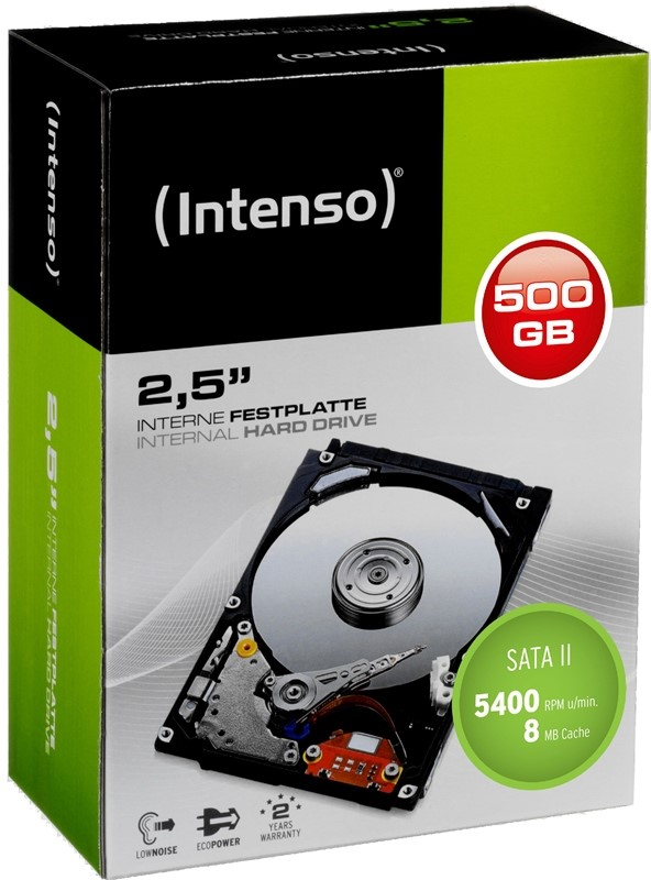 Intenso HDD interne Festplatte 2,5 Zoll 500GB 8MB SATA II