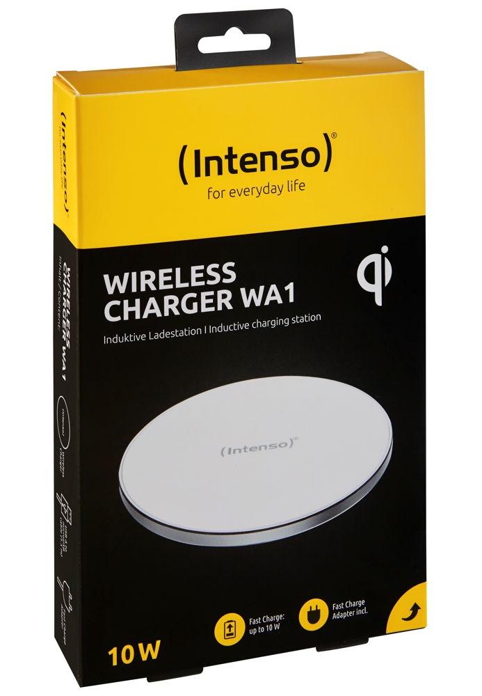 Intenso Wireless Charger WA1 Output bis 10W inkl. Fast Charge Adapter weiß