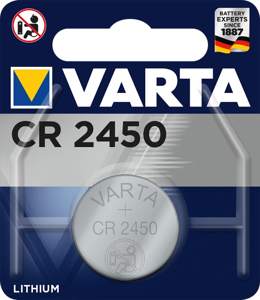 50 Varta 6450 Professional CR 2450 Lithium Knopfzelle Batterien Blister